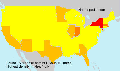 Surname Menese in USA