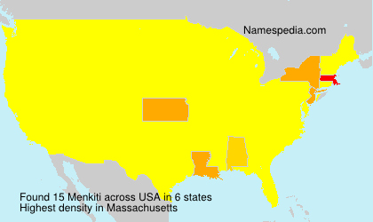 Surname Menkiti in USA