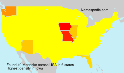 Surname Menneke in USA