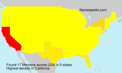 Surname Mercene in USA