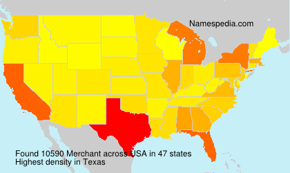 Surname Merchant in USA