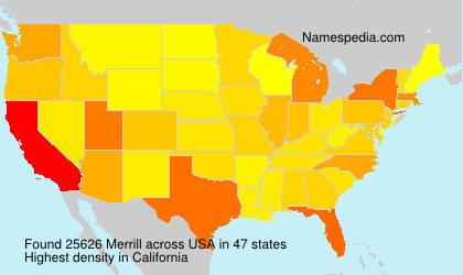 Surname Merrill in USA