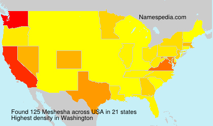 Surname Meshesha in USA
