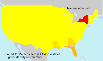 Surname Meulens in USA