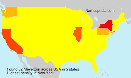 Surname Meyerzon in USA