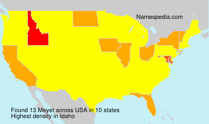 Surname Meyet in USA