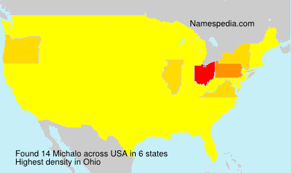 Surname Michalo in USA