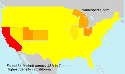 Surname Michoff in USA