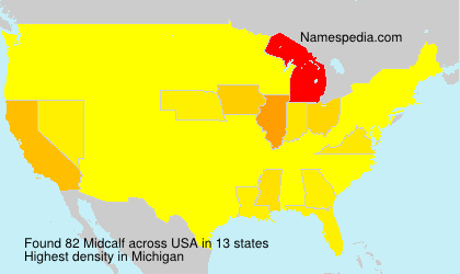 Surname Midcalf in USA