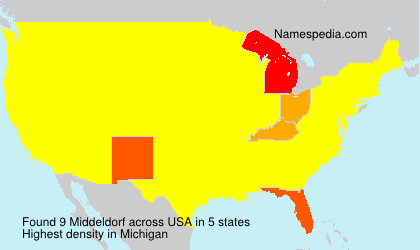 Surname Middeldorf in USA