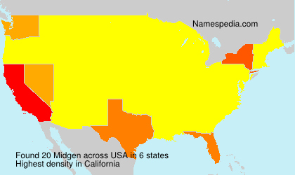 Surname Midgen in USA