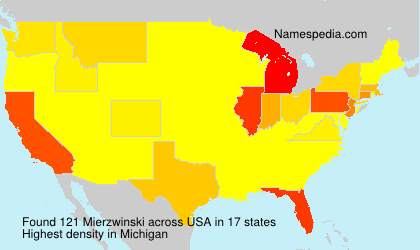 Surname Mierzwinski in USA