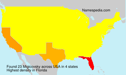 Surname Migicovsky in USA