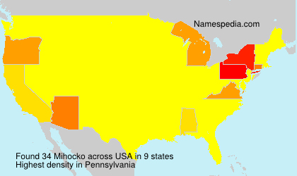 Surname Mihocko in USA