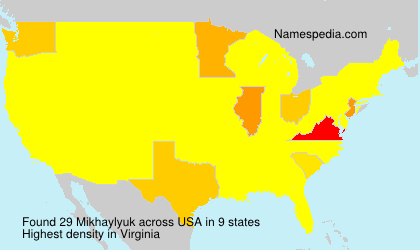 Surname Mikhaylyuk in USA