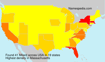 Surname Milard in USA