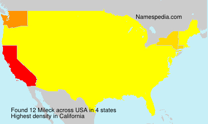 Surname Mileck in USA