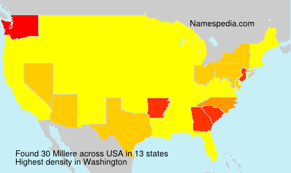 Surname Millere in USA
