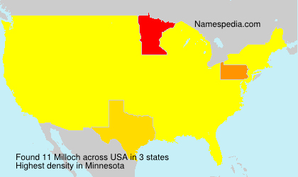 Surname Milloch in USA