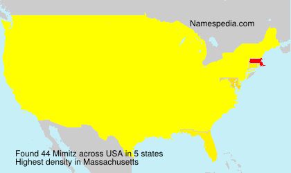 Surname Mimitz in USA