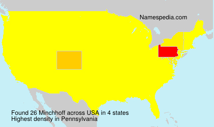Surname Minchhoff in USA