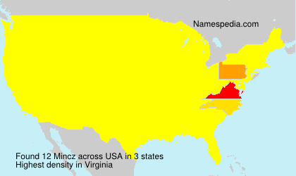 Surname Mincz in USA