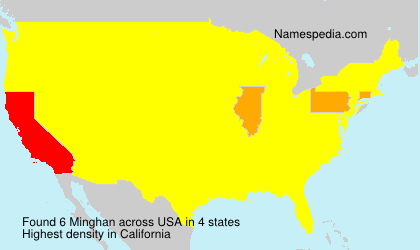 Surname Minghan in USA