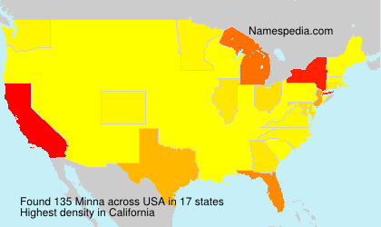 Surname Minna in USA