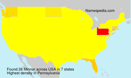 Surname Minnar in USA