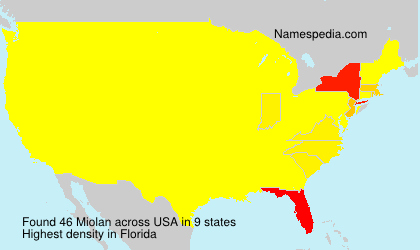 Surname Miolan in USA