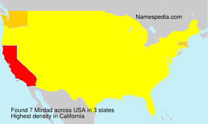 Surname Mirdad in USA