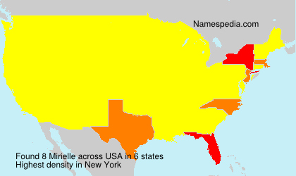 Surname Mirielle in USA