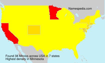 Surname Mirviss in USA