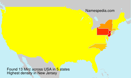 Surname Mirz in USA