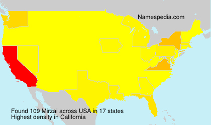 Surname Mirzai in USA