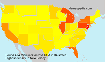 Surname Misiewicz in USA