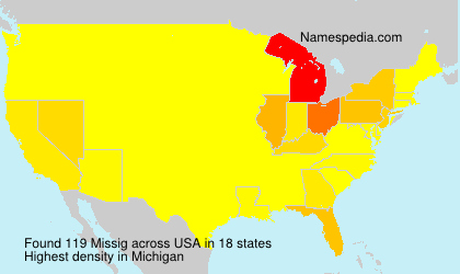 Surname Missig in USA