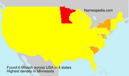 Surname Missoh in USA