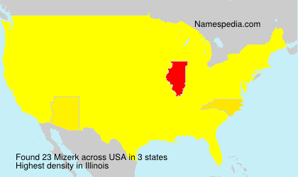 Surname Mizerk in USA