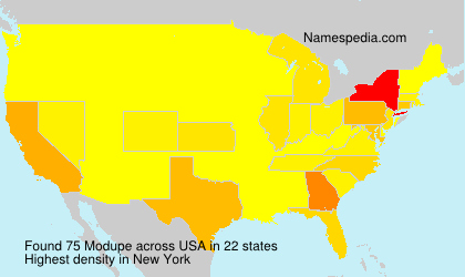 Surname Modupe in USA