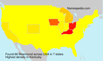 Surname Moermond in USA