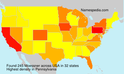 Surname Moessner in USA