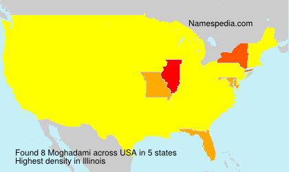 Surname Moghadami in USA
