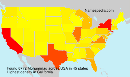 Surname Mohammad in USA
