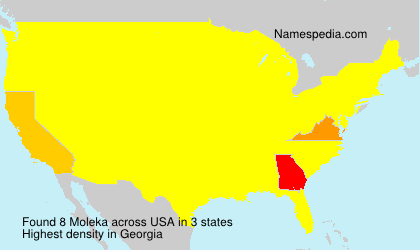 Surname Moleka in USA