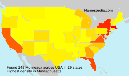 Surname Molineaux in USA
