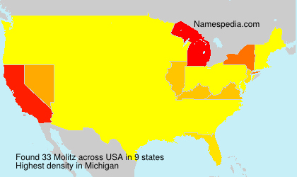 Surname Molitz in USA