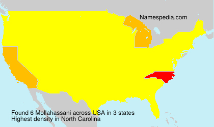 Surname Mollahassani in USA