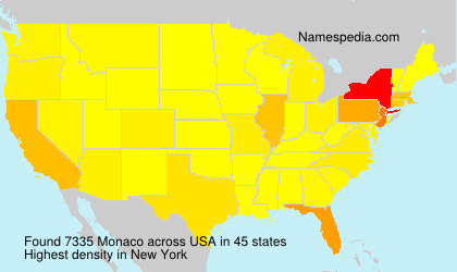 Surname Monaco in USA