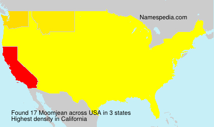 Surname Moomjean in USA